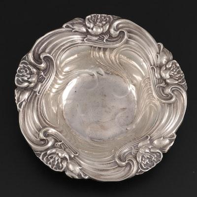 Whiting Art Nouveau Sterling Silver Bon Bon Bowl, Early 20th Century