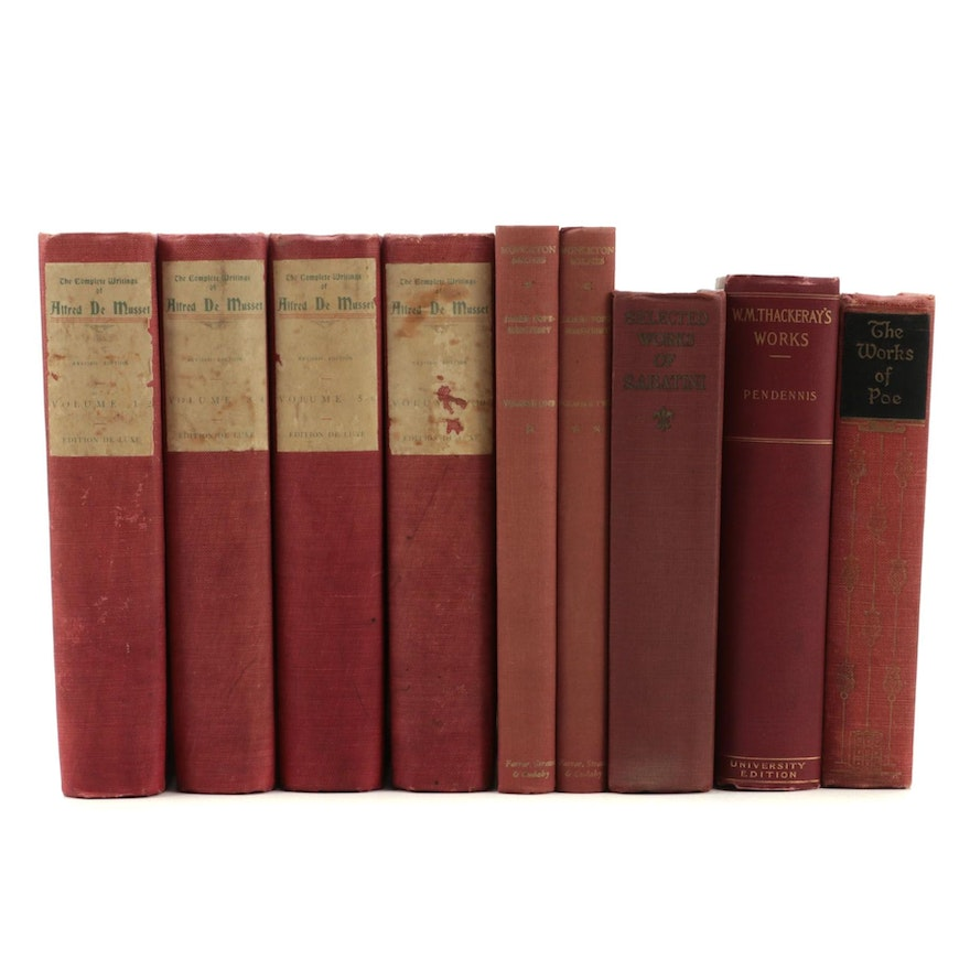 """""""The Complete Writings of Alfred de Musset"""" Partial Set and More Books"""