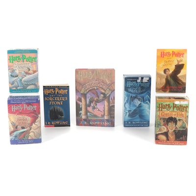 """""""Harry Potter"""" Series by J. K. Rowling with Cassette Tape Audiobooks"""