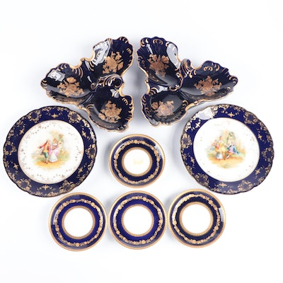 Dresden Ambrosius Lamm and Other Porcelain Tableware, Late 19th to 20th Century