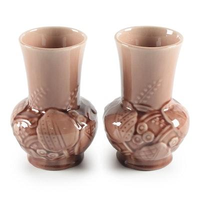 Rookwood Pottery High Glaze Wild Flower Vases, 1951