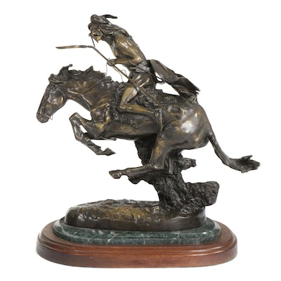 """Bronze Sculpture After Frederic Remington """"The Cheyenne"""""""