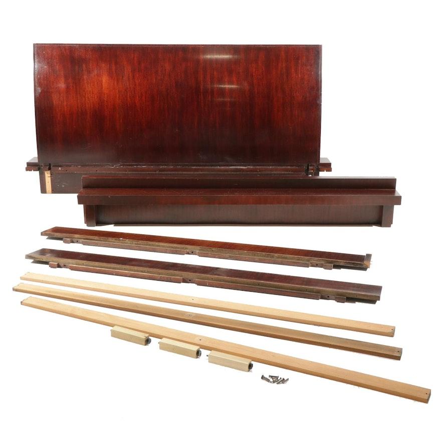 Art Deco Style Mahogany King Size Bed Frame