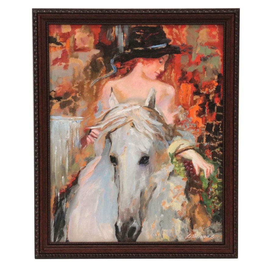"Larissa Sievers Oil Painting ""Appeasement,"" 2021"