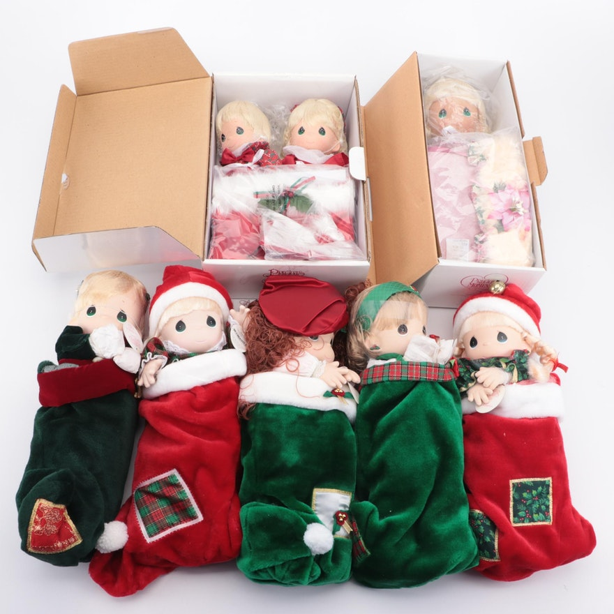 Precious Moments Christmas Stocking Dolls and Other Dolls
