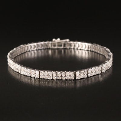 14K 7.26 CTW Double Row Line Bracelet