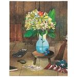 """Sebastian Meier Oil Painting """"Flores y Water,"""" 2021"""
