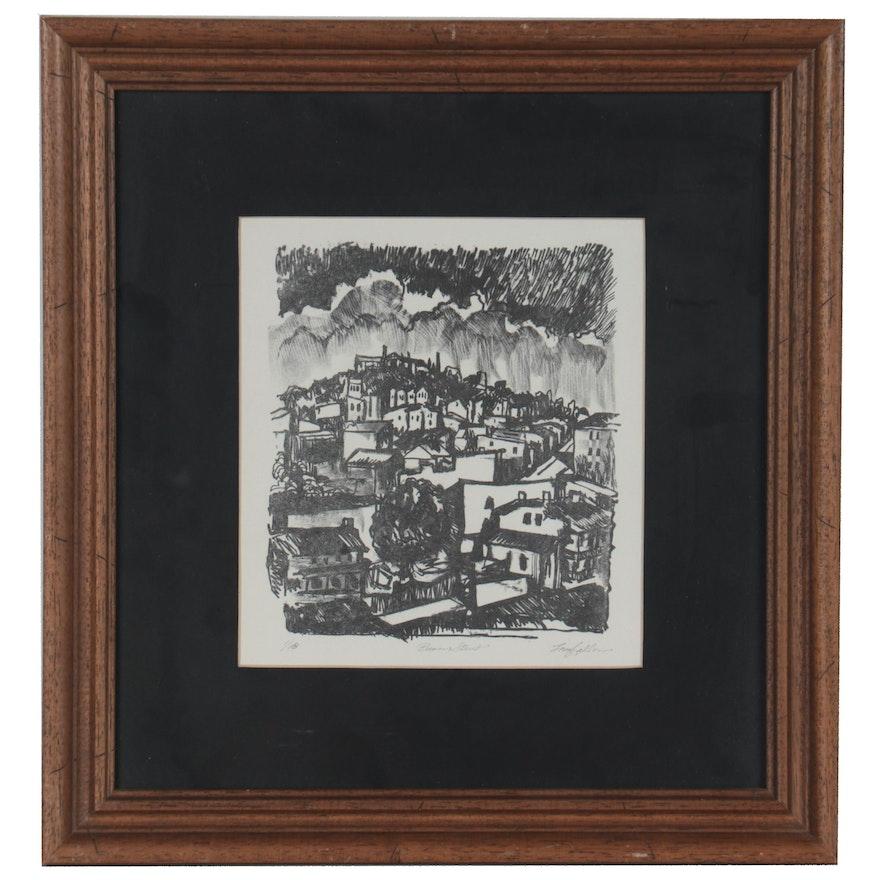 "George Longfellow Lithograph ""Baum Street"""