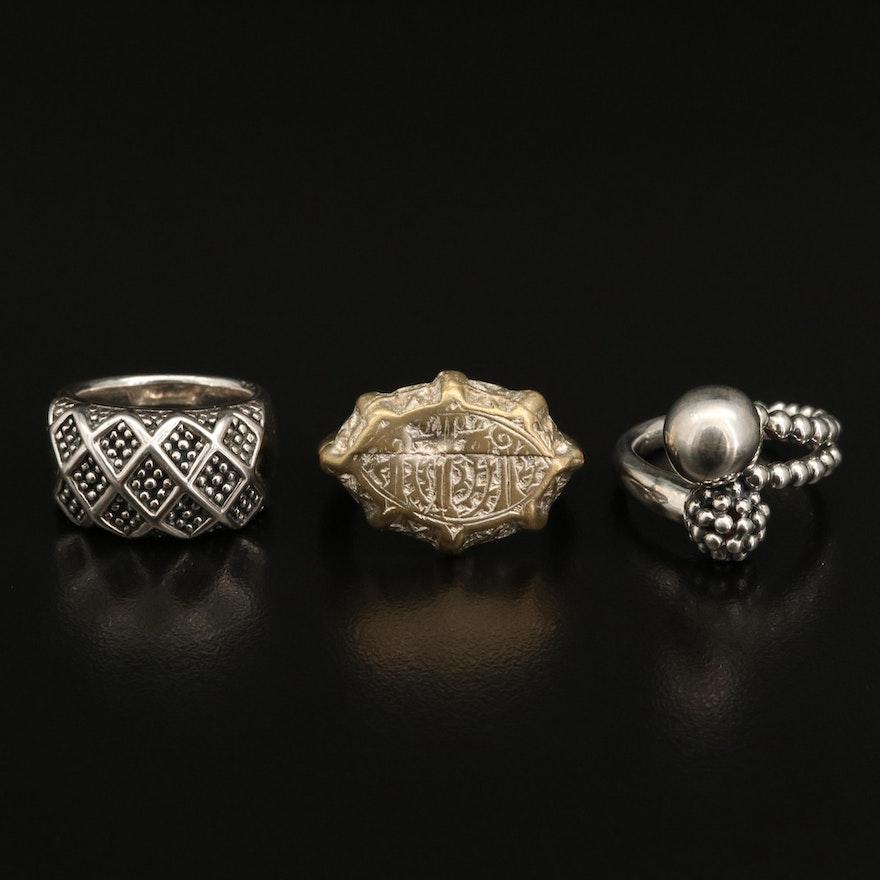 Rings Including Michael Dawkins Sterling Silver