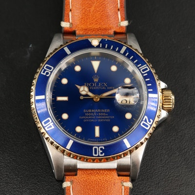 1997 Rolex Submariner Date 18K Gold and Stainless Steel Automatic Wristwatch