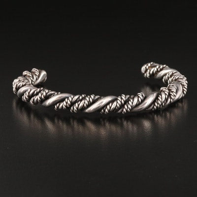 Sterling Silver Twist Cuff