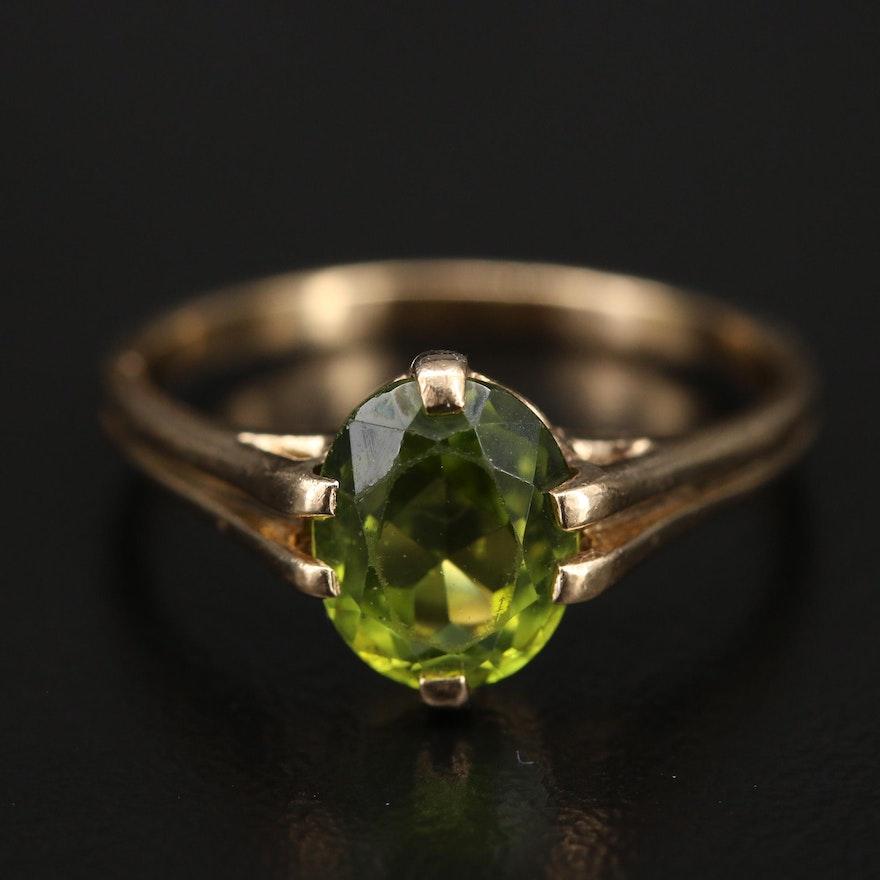 Vintage 10K Peridot Ring
