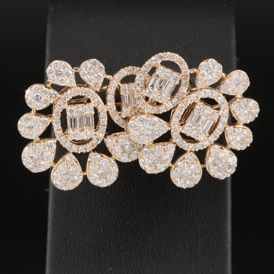 14K 5.98 CTW Diamond Earrings