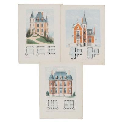 """Lithographs From """"Maisons de Campagne des Environs de Paris"""""""