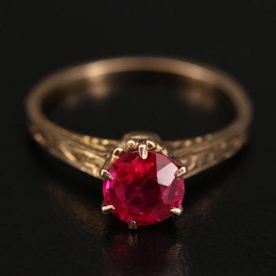 Vintage 10K Ruby Ring