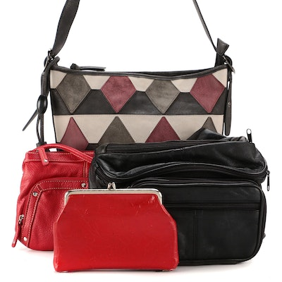 Bueno Patchwork Shoulder Bag with Other Coin Purse, Belt Bag and Crossbody