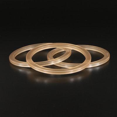 Resin Stacking Bangle Bracelets