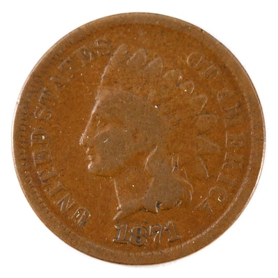 Key Date 1871 Indian Head Cent