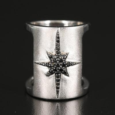Eva LaRue Sterling Spinel Starburst Ring