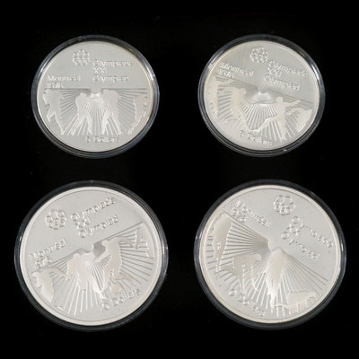 Silver Proof 1976 Montreal Olympic Coin Set