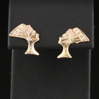 14K Nefertiti Earrings