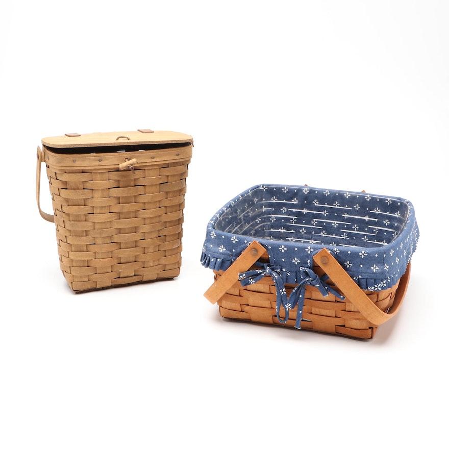 Longaberger Handwoven Picnic Baskets