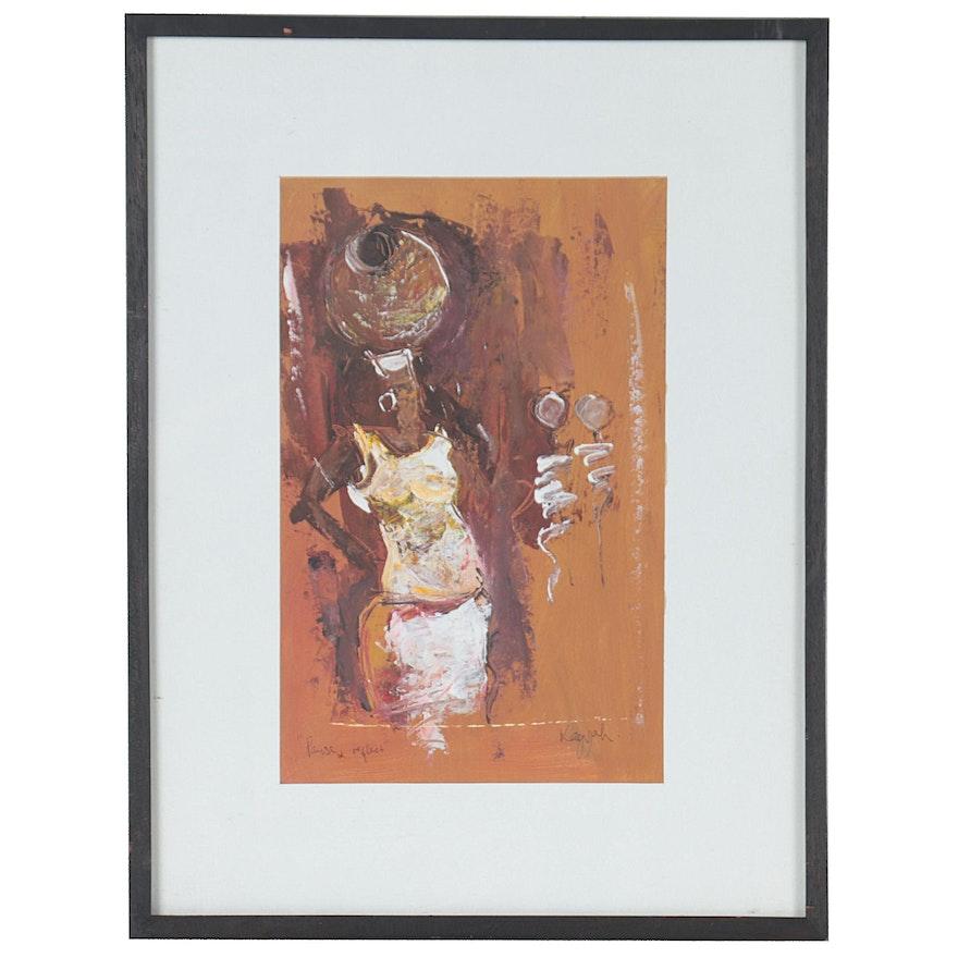 "Kagyah Oil Painting ""Pause & Reflect"""
