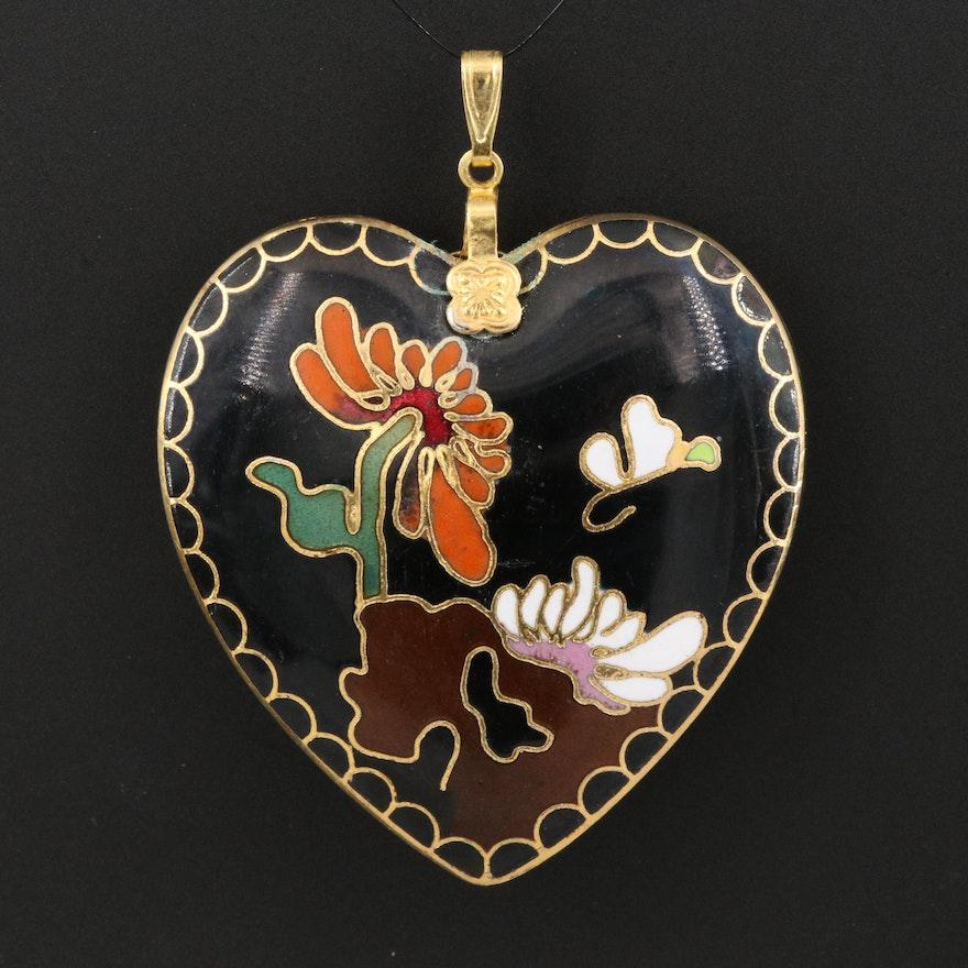 Enamel Heart Pendant