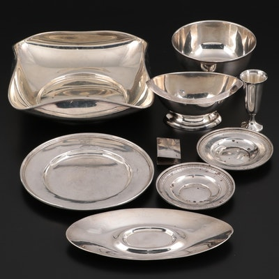 Wallace and Other Sterling Silver Tableware, Early to Mid 20th Century