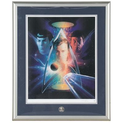 "Matthew Peak Commemorative Offset Lithograph ""Beyond the Final Frontier,"" 1996"