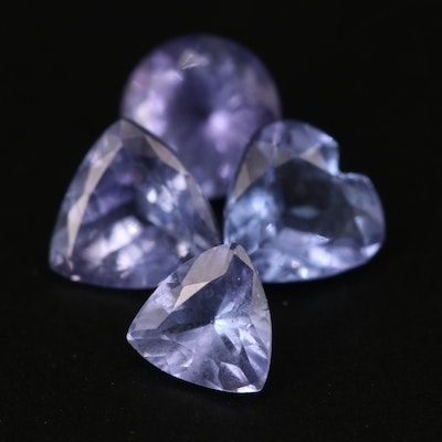 Loose 2.32 CTW Mixed Faceted Tanzanite
