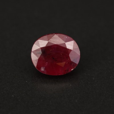 Loose 1.80 CT Oval Faceted Ruby