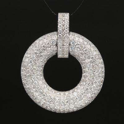 14K 5.85 CTW Pavé Diamond Pendant