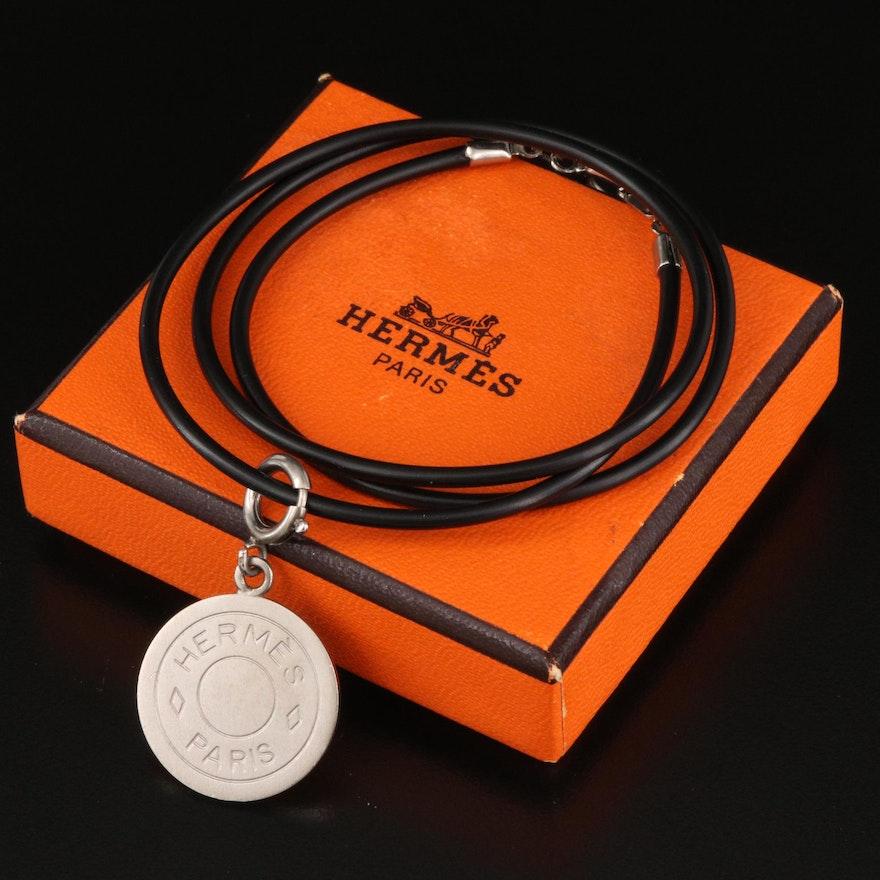 """Hermès """"Clou de Selle"""" Charm with Necklace"""