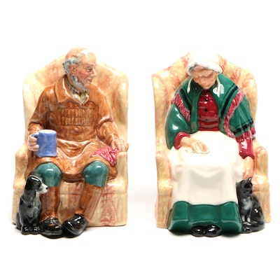 """Royal Doulton Porcelain Figurines, """"Uncle Ned"""" and """"Forty Winks"""""""