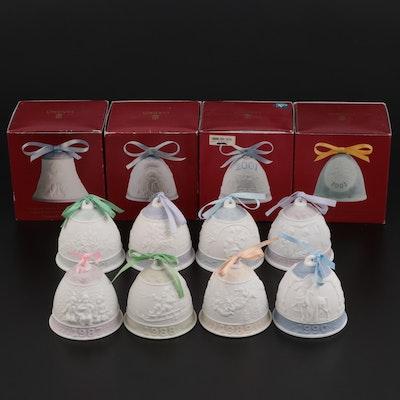 "Lladró ""Annual Christmas Bell"" Porcelain Ornaments"