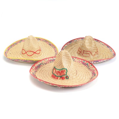Chevys Fresh Mex and Other Woven Mexican Sombreros