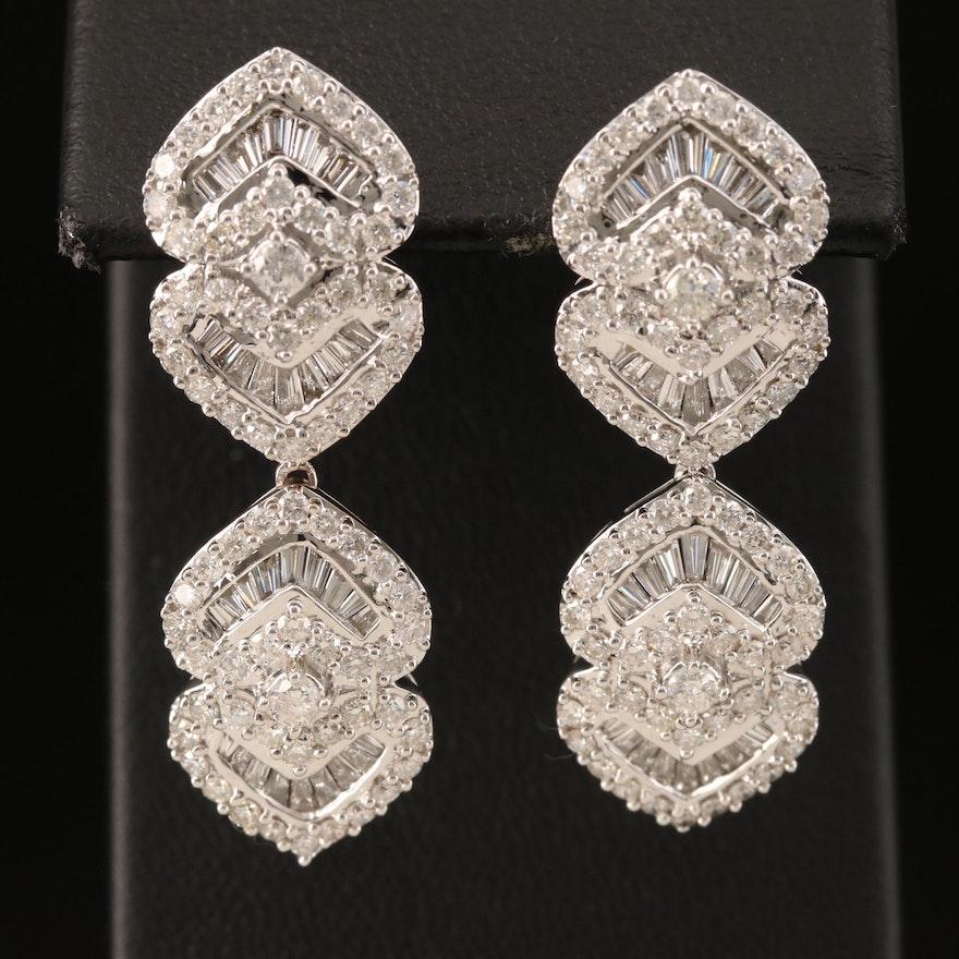 14K 3.46 CTW Diamond Earrings