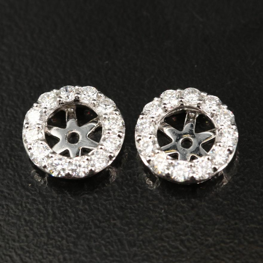 14K Diamond Halo Earring Jackets
