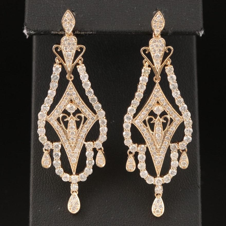 14K 4.86 CTW Diamond Chandelier Earrings