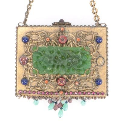 Sweet Romance Evening Bag with Glass Bead Embellishment
