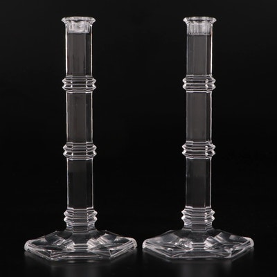 """Pair of Tiffany & Co. """"Windham"""" Crystal Candlesticks"""