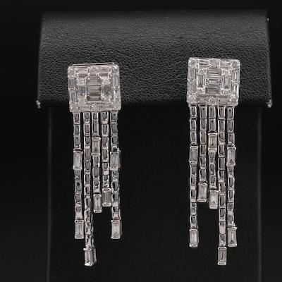 14K 2.00 CTW Diamond Waterfall Earrings