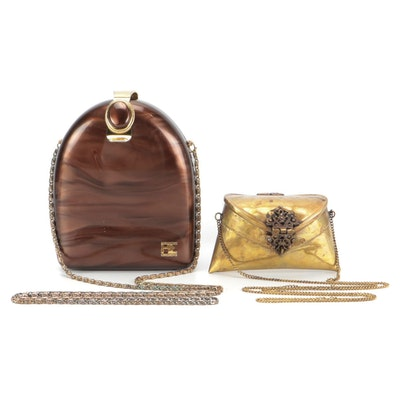 PE Florence and Other Swirl and Metal Hinged Purses