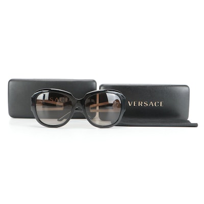 Versace Polarized Sunglasses in Medusa and Greco Motif with Two Cases