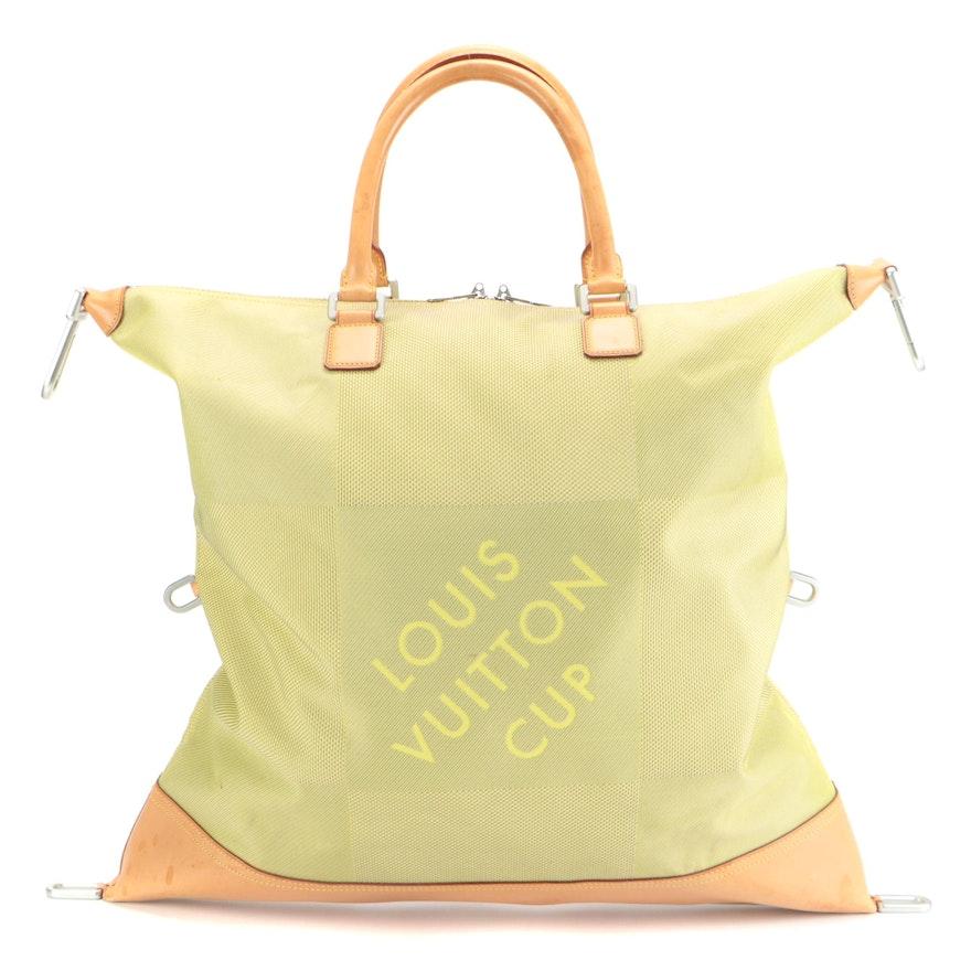 Louis Vuitton LV Cup Cube Travel Bag in Jaune Damier Geant