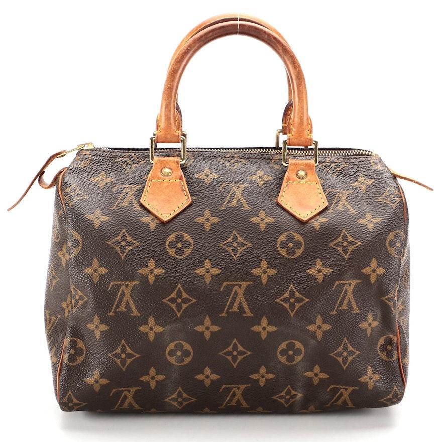 Louis Vuitton Speedy 25 in Monogram Canvas and Vachetta Leather
