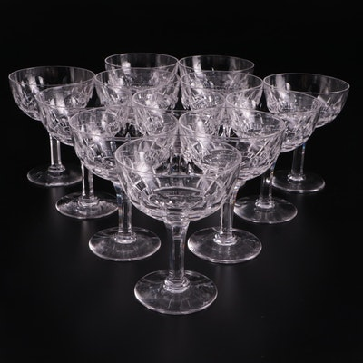 Stuart English Champagne Coupes, Mid to Late 20th Century