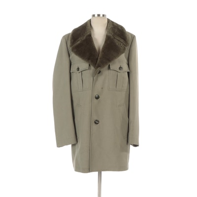 Men's London Fog Utilitarian Style Overcoat