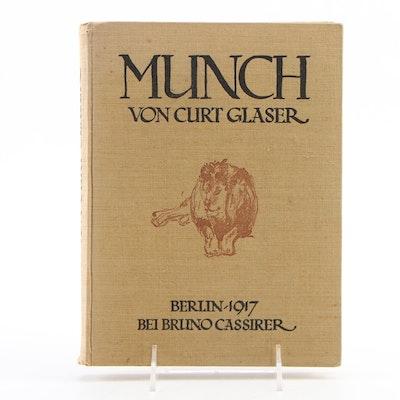 "German Language ""Edvard Munch"" by Curt Glaser, 1917"